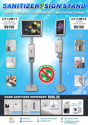 Sanitizer-Sign-Stand